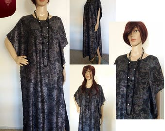 Dress black Caftan with a flowers Lurex Multicolors, Dubai Moroccan kaftan Maxi Abaya Kaftan dress, long evening dress, hand made