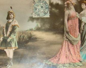 Wonderful Hand Tinted Reutlinger Theater Postcard
