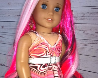 """Custom 10-11"""" Doll Wig Fits Most 18"""" Dolls, Blythe, 1/4 Sized Dolls and More """"Cupid"""" Heat Safe"""