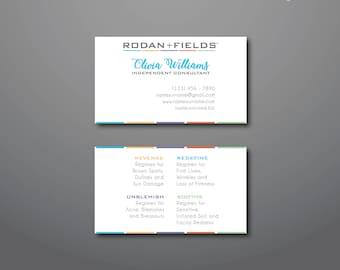 Custom Rodan + Fields Business Cards • Double Sided •  Printable • PDF • JPEG •