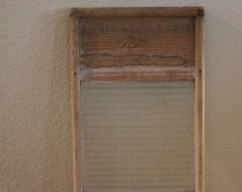 Antique Columbus Washboard Company Washing Board