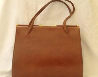Vintage Leather Kelly Handbag