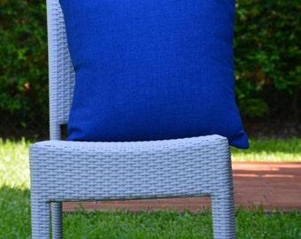 "Blue Throw Pillow Cover /Decorative Throw Pillow Cover 20""X 20"" / Throw Pillow Cover for Indoor or Outdoor."