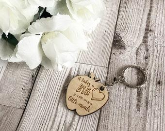 Teacher Keyring - Wooden Keyring - Teacher Gift - Quote Keyring