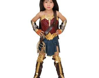 Kids Wonder Woman Princess Diana Cosplay Costume