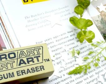 Rubber Gum Eraser || Pencil Eraser || Sketch Supplies || Sketching Supplies || Rubber Erasers || Moth and Moon