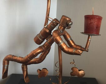 Scuba Diver made from Copper