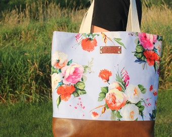 Electric Rose Garden Tote