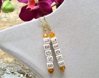 22k gold-Plated Earrings Angel