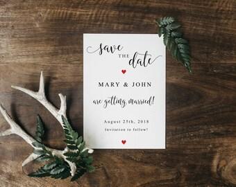 Save the Date Invitation Template, Wedding Invitation, Rustic Wedding, instant download, Invitation Template, Wedding Printable, BD-6021