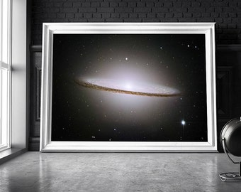 Sombrero Galaxy print / Space poster / Galaxy print / Outer space art / Universe print / Space wall art / Hubble telescope / Nasa poster