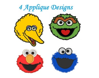 Elmo Applique Designs - 4 designs Elmo Embroidery Applique