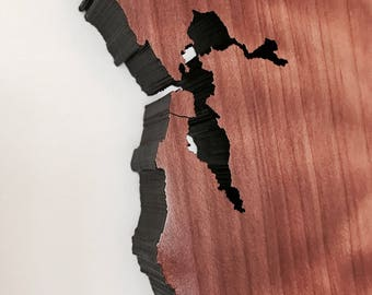 Redwood Map Wall Hanging | California