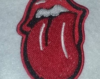 Red Tongue 100% Embroidered iron on Patches