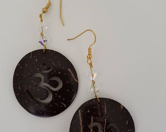 Aum coconut earrings
