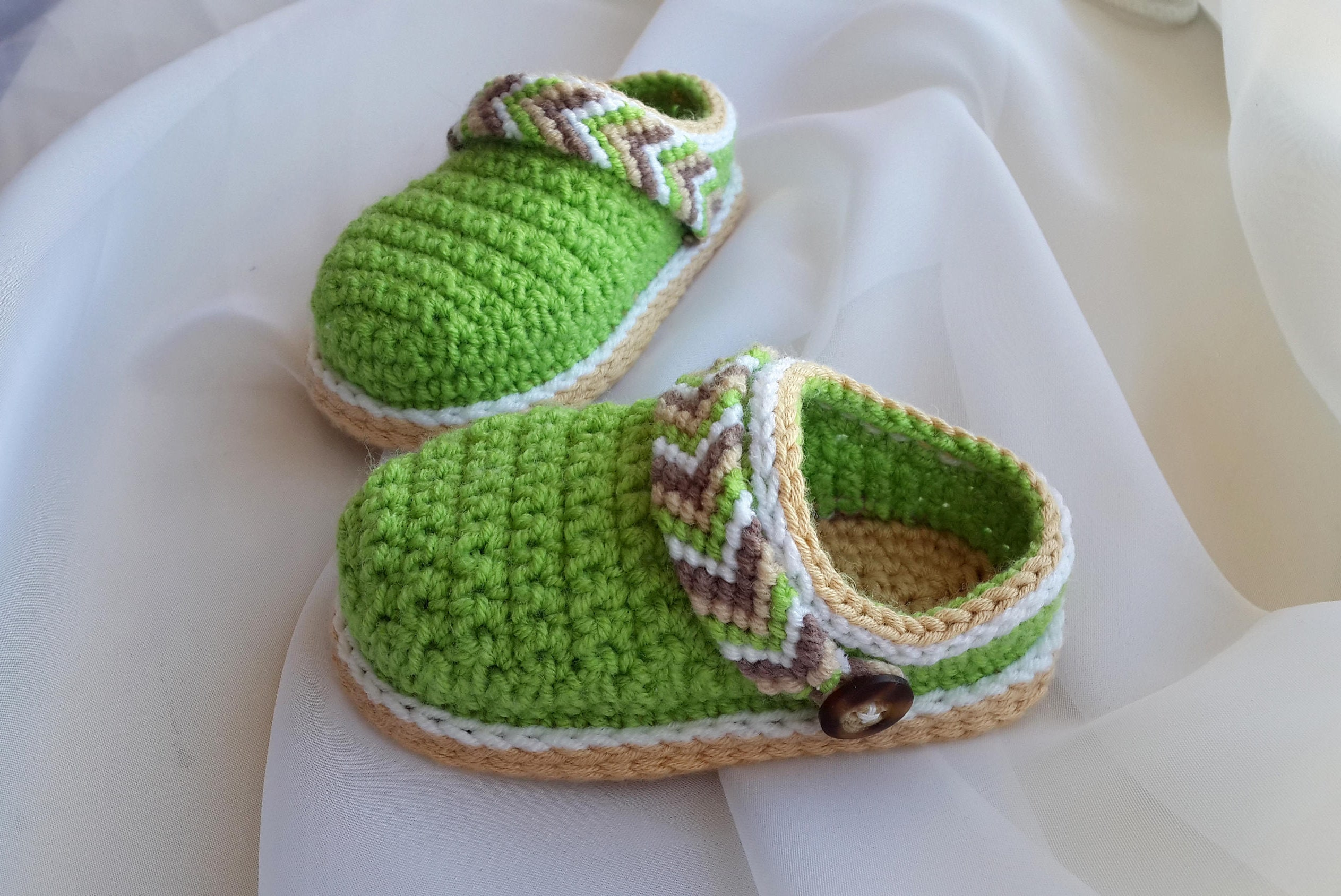 Macrame Baby Shoes