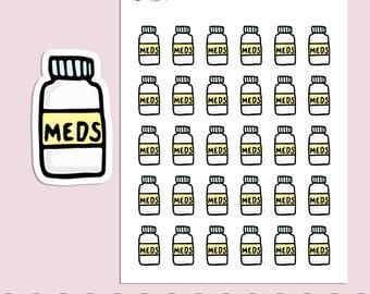 MEDICINE | Planner Stickers  | Medication | Pharmacy | Reminder | Erin Condren | S223
