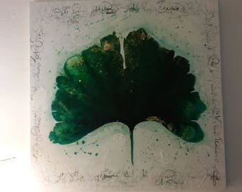 Gingko leaf painting