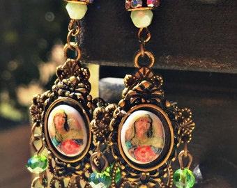 Repurposed Vintage earrings, 1-of-a-kind
