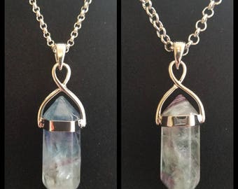 Two Toned Crystal Necklace