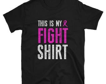 Cancer Fight Shirt, October Breast Cancer Shirt, F*ck cancer, Black and Pink, Brave Fight, Fight Shirt, for Mom, Survivor, Sister