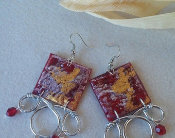 """Exclusive """"Artistic Mais Wire"""" Square earrings"""
