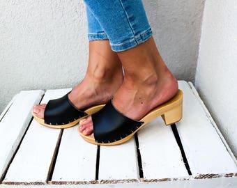 Clog Sandal Shoes Clog sandals swedish clogs trends fashion wooden clogs black Sweden clog clog sandal women sandals boots moccasin boho