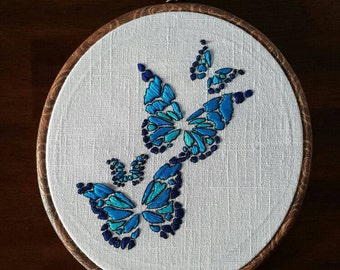 Butterflies- 8 inc - Modern Embroidery