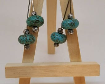 Magnesite Turquoise & Silver Earring