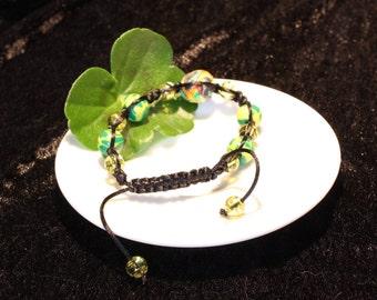 Friendship Bracelet Green/Yellow