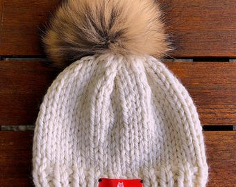 """The WHōōKNITS """"Lara"""" Hand-knit Wool Hat: the Perfect Winter Beanie for our Little Ones"""