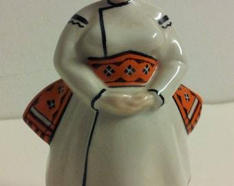Vintage Kiev USSR Porcelain Peasant Woman Figurine