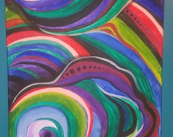 Psychedelic Acrylic Painting