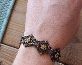 Antique Rhinestone Bracelet