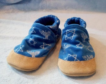Hanukkah: Soft Sole Baby Shoes 18-24M