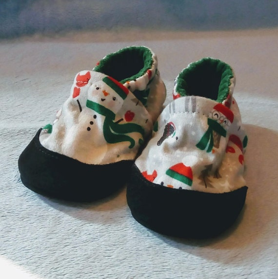 Woodland Snowman: Soft Sole Baby Shoes 6-12M