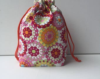 Project Bag - Sock Knitting Bag - Sock Sack - Knitting Project Bag -  Crochet Project Bag - Needlepoint Bag - Embroidery Bag - (Small)