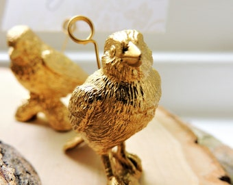 PLACE CARD HOLDERS Gold Silver Wedding Animal Birds Placecard Escort Name Holder Seating Party Event Reception Unique Table Decorations