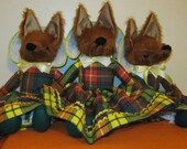 Fox Dressed Toy Buchanan Tartan Fox Scottish Fox Toy Special Adult Gift Girlfriend Present Mother's Present Gift for Grandma Fun Friend Toy
