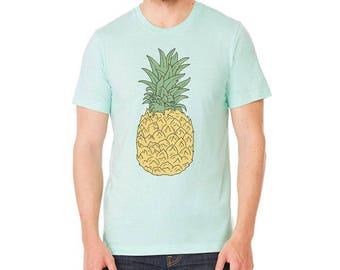 Pineapple Shirt | Men's t-shirt | Men's Graphic T Shirts | Mint Green tshirt | Gifts for him | Pineapple Print | Graphic Tees