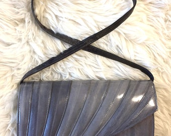 Soft Eel Leather Bag w/ Detachable Strap