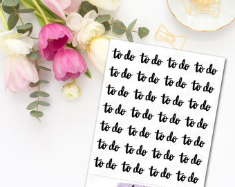To Do, To Buy and Today Lettering Planner Stickers