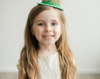 St. Patrick's Day Top Hat || March Birthday Party Hat || Shamrock