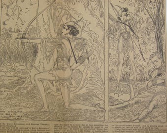 Original 1932 Newspaper Clipping - The End Of The Chase By Nell Brinkley
