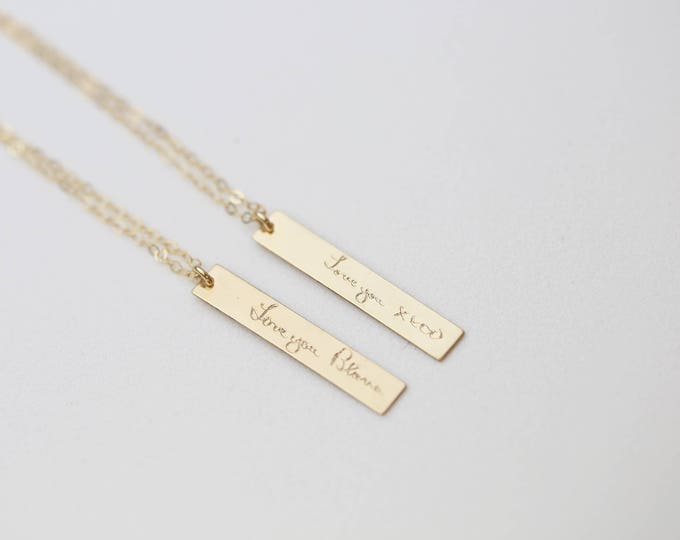 Custom Handwriting Necklace, Actual Handwriting Jewelry, Memorial Jewelry, Kid's Writing Gift for Mother's Day E&E PROJECT