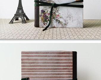 Mini travel scrapbook journal photo album. A photographic trip around the world.
