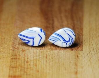 Nickel Free Earrings - Hypoallergenic Teardrop Earrings - Polymer Clay Earrings - Earrings For Sensitive Ears - Teardrop Shaped - Plastic
