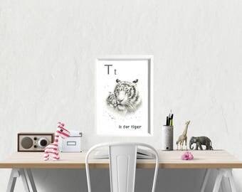 playroom art, playroom prints, alphabet print, alphabet poster, alphabet nursery art, alphabet art, alphabet letters, nursery prints,