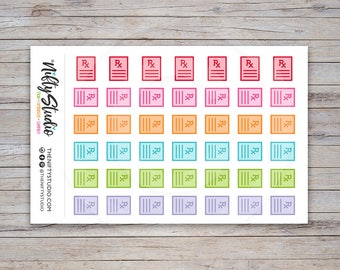 Prescription Stickers   Medication Stickers   Planner Stickers   The Nifty Studio [150]