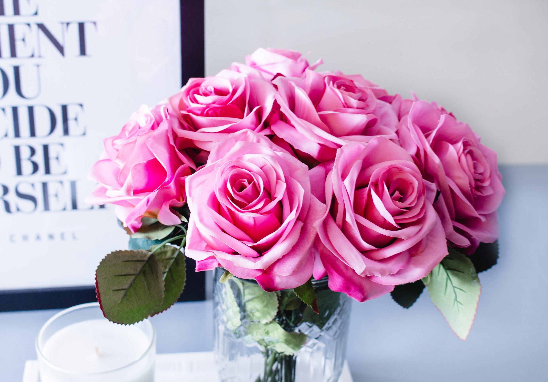10pcs 40pcs hot pink open rose england roses silk flower silk 10pcs 40pcs hot pink open rose england roses silk flower silk flowers for diy wedding mightylinksfo
